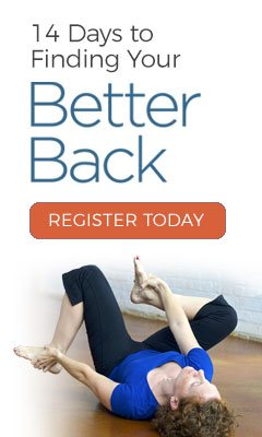 14 Days to finding your Better Back. An online program by Cynthia Allen
